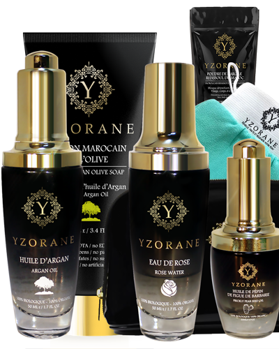 MOROCCAN HAMMAM SPA KIT : 6 items And ORGANIC PRICKLY PEAR SEED OIL